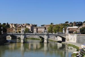 Rom - Blik über denTiber auf die Altstadt